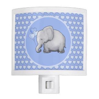 Heart Polka Cute Baby Elephant Kids Nursery Nite Lites