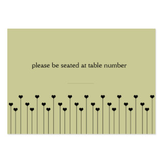 Heart Poppy Place Card Business Cards