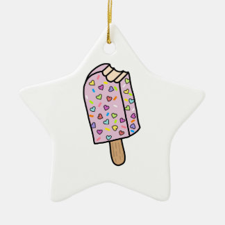 Heart Popsicle cute shirts, accessories, gifts Ceramic Ornament
