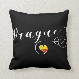 Heart Prague Pillow, Czech Republic Throw Pillow