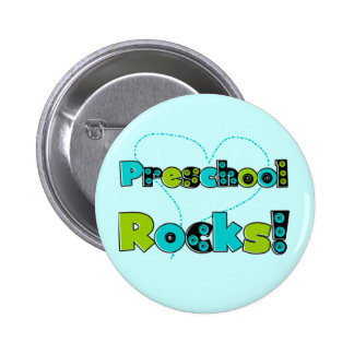 Heart Preschool Rocks Tshirts and Gifts 2 Inch Round Button
