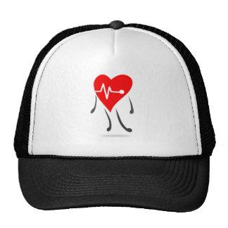 Heart pulse animation illustration trucker hat