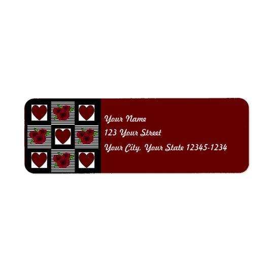 Heart Quilt Return Address Label