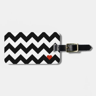 Heart & Rafter - Red Black/Traditional Luggage Tag