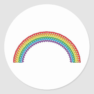 Heart Rainbow Classic Round Sticker