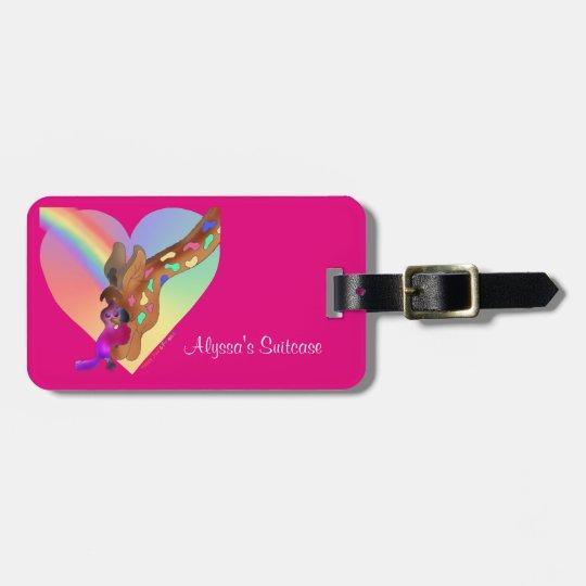 Heart Rainbow & Lila by The Happy Juul Company Luggage Tag