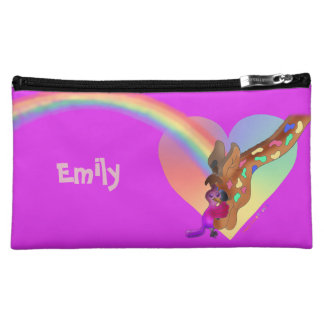 Heart Rainbow & Lila by The Happy Juul Company Makeup Bag