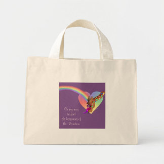 Heart Rainbow & Lila by The Happy Juul Company Mini Tote Bag