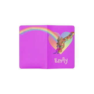 Heart Rainbow & Lila by The Happy Juul Company Pocket Moleskine Notebook