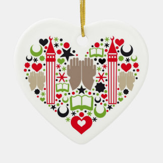 Heart Ramadan Ceramic Ornament