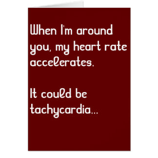 Heart Rate Funny Medical Valentine's Day Card