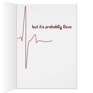 heart rate romantic funny valentine card
