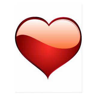 heart red postcard