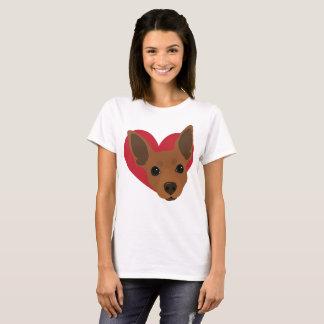 Heart Red Rust Min Pin T-Shirt No4