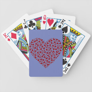 Heart Red Valentine Bicycle Playing Cards