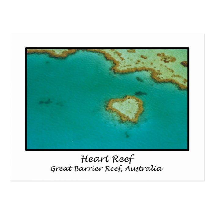 Heart Reef, Great Barrier Reef, Australia Postcard