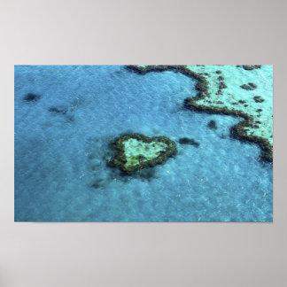 Heart Reef _ Whitsunday's, Australia Poster
