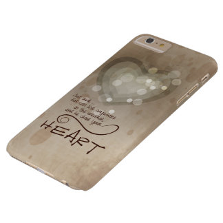 Heart Religious Encouragement, Grunge Barely There iPhone 6 Plus Case