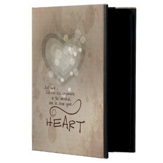 Heart Religious Encouragement, Grunge iPad Air Case
