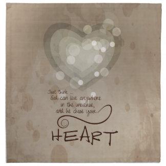 Heart Religious Encouragement, Grunge Napkin