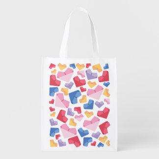 Heart Reusable Grocery Bag