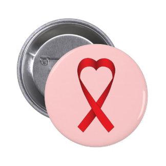 Heart Ribbon 2 Inch Round Button