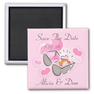 Heart Ring Custom Save The Date Magnets