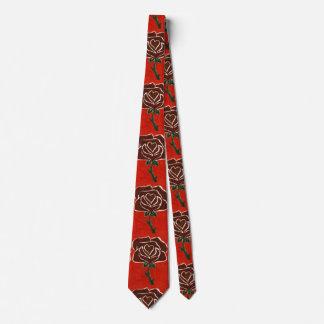 """""""Heart Rose #7"""" Flower Garden Neck Tie"""