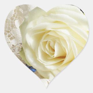 Heart Rose Wedding Stickers
