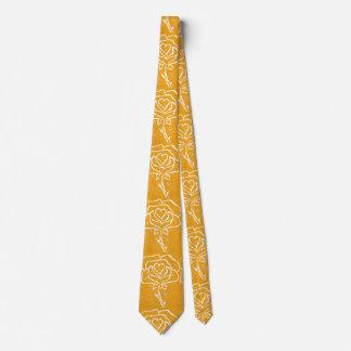 """Heart Rose Yellow"" Flower Garden Neck Tie"
