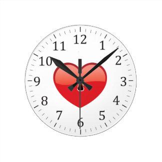 Heart Round Clock