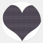Heart Round Sticker