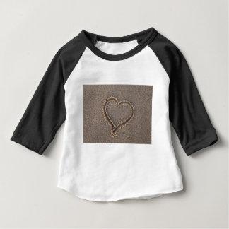 Heart Sand Beach Summer Sea Love Vacation Travel Baby T-Shirt