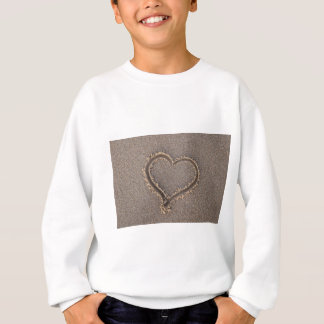Heart Sand Beach Summer Sea Love Vacation Travel Sweatshirt
