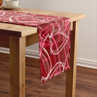 Heart Scribbles Ruby Red Short Table Runner