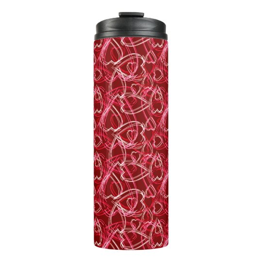 Heart Scribbles Ruby Red Thermal Tumbler