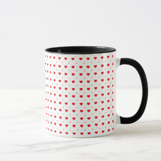 Heart seamless pattern mug