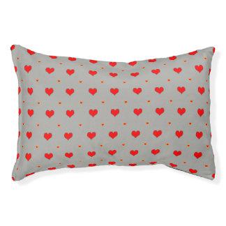 Heart seamless pattern pet bed