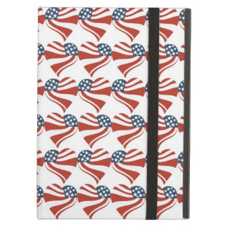Heart Shape and the American Flag Pattern iPad Air Cover