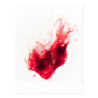 Heart Shape Blood Splatter Postcard