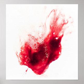 Heart Shape Blood Splatter Poster