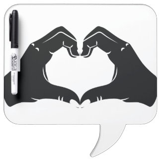 Heart Shape Hands Illustration with black hearts Dry-Erase Whiteboards