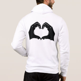 Heart Shape Hands Illustration with black hearts Hoodie