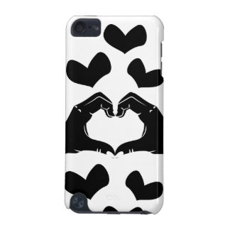 Heart Shape Hands Illustration with black hearts iPod Touch 5G Covers
