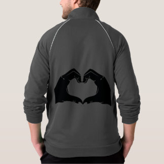 Heart Shape Hands Illustration with black hearts Jacket