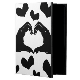 Heart Shape Hands Illustration with black hearts Powis iPad Air 2 Case