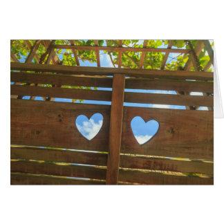Heart shape in a fence, Belize Card