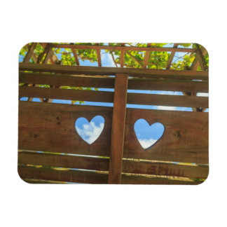 Heart shape in a fence, Belize Rectangular Photo Magnet