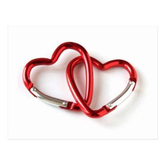 Heart shape key chain. Love Postcard