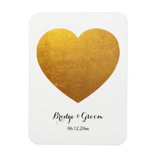 Heart Shape Photo Personalized Wedding Anniversary Magnet